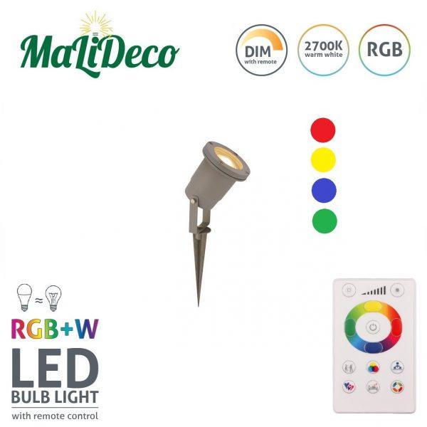 Gekleurde LED spot tuin