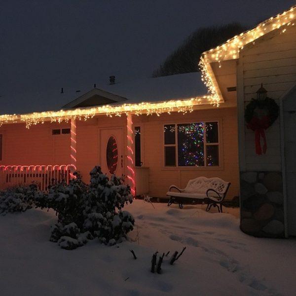De ijspegelverlichting is koppelbaar om een heel pand of huis te verlichten