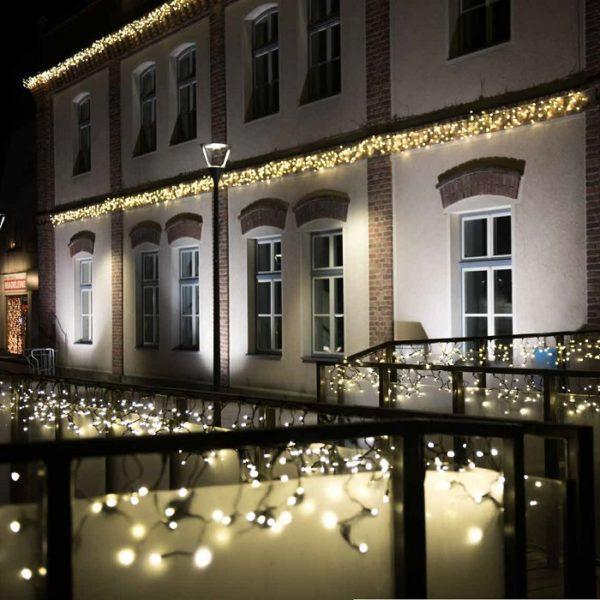 Professionele ijspegelverlichting voor gevel, balkon, dakgoot en ramen
